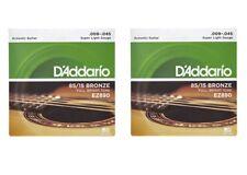 OFFERTA 2 SET MUTA CORDE D'ADDARIO EZ890  Bronze 009/045 CHITARRA ACUSTICA FOLK