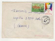 Côte d'Ivoire 2 timbres sur lettre 1987 tampon Abidjan /L108