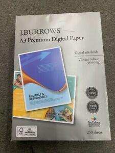 J. BURROWS A3 Premium Digital Paper  250 Sheets  120GSM