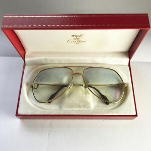 Vintage Cartier Vendome Louis glasses frames gold 22K rx sunglasses trinity 80's