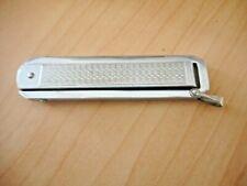 Vtg BERKELEY Folding Pocket Key Chain KNIFE Etched Silver Tone Unique Design