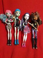 Monster High Frankie Stein Ghoulia Clawdeen Wolf  Spectra Vondergeist Dolls