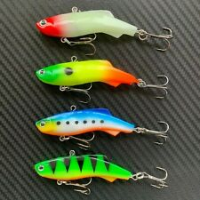 4x 75mm Mullet Transam Lures Soft Vibe Fishing Lure MUllet Thready Lures Trazo
