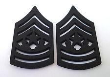 1 PAIR (2) US ARMY RANK E9 CSM Military Veteran Hat / Collar Pins P12758 EE