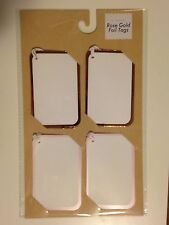 New Rose Gold Foil Tags by Made For Retail 6 Sheets with 8 tags/Sheet (48 tags)