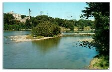 1958 Looking East from Memorial Drive, Appleton, WI Postcard