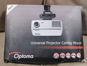 Optoma Universal Projector Ceiling Mount in Black - Boxed & Unused