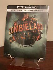 Zombieland Steelbook (4K UHD/Blu-ray/Digital, 2009) Factory Sealed