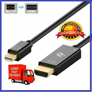 Rankie for Mini DisplayPort (Mini DP) to HDMI Cable 4K Ready-6 Ft