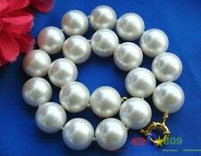 """HUGE 17"""" 20mm White South Sea Shell Pearl Necklace AAA"""