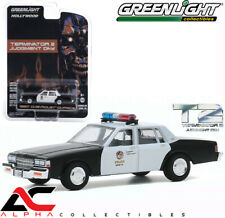PRESALE GREENLIGHT 44890F 1:64 1987 CHEVROLET CAPRICE METRO POLICE TERMINATOR 2