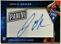 2015 Panini Black Friday Jahlil Okafor Patch Auto RC 76ers Duke Rookie Autograph