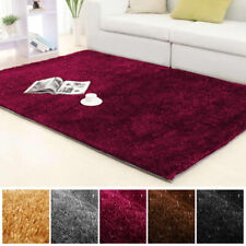 Plush Fluffy Shag Shaggy Rug Silky Thick Soft Area Rugs Floor Carpet Mat Home