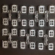 24 x OO/HO GAUGE MODEL RAILWAY BUILDING ACCESSORIES/MATERIALS 24 WINDOWS
