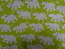 Gorgeous HIPPO ANIMAL Themed Fabric Remnant (79cm x 35cm)