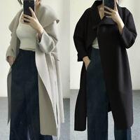 ZANZEA Women Oversize Long Jacket Coat Open Front Cardigan Woolen Coat Outwear