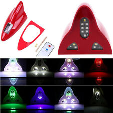 Red Car Shark Fin Antenna with FM/AM Connection Cable LED Warning Light + Remote