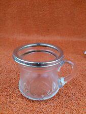 More details for antique sterling silver hallmarked  cut glass cup mug 1932, walter gardener
