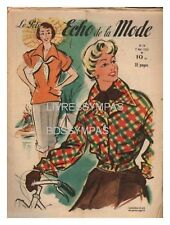 PETIT ECHO DE LA MODE FRENCH FASHION MAGAZINE 1950 N° 19