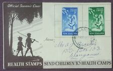 1949 New Zealand 1d & 1/2d Health Stamps  On Official FDC, Wauganui Cancel