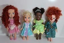 "lot of 4 Disney Princess Tolly Tots 15"" Baby Doll Red Hair Brave Merida, Tiana"