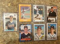 (7) Tom Glavine 1988 Fleer Topps Score Donruss Rookie card lot RC 1989 Upper HOF