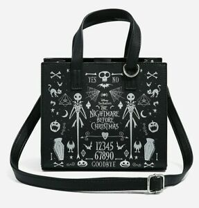 The Nightmare Before Christmas Jack Spirit Board Satchel Purse Bag Crossbody NWT