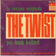 """HANK BALLARD AND THE MIDNIGHTERS """"THE TWIST"""" FRENCH 60'S EP ODEON 3651"""