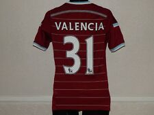 WEST HAM UNITED FOOTBALL 2014 HOME SHIRT JERSEY ENNER VALENCIA 31 ,MENS XS