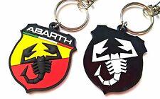 FIAT ABARTH emblem 500 Keyring key chain Schlüsselanhänger logo rubber badge