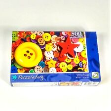 Puzzlebug 500 Piece Jigsaw Puzzle Colorful Buttons Brand New Sealed