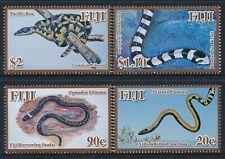 2010 FIJI SNAKES SET OF 4 FINE MINT MNH