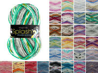 King Cole Splash DK Knitting Yarn Acrylic 100g Wool