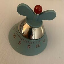 A di Alessi Michael Graves Mechanical Kitchen Timer - Blue And Red