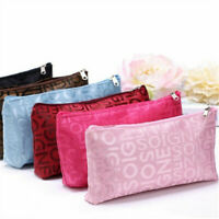 1* Women Portable Cosmetic Bag Letters Bags Beauty Zipper Travel Make Up Cases