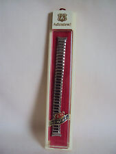 VINTAGE ADMIRAL SILVER TONE STAINLESS STEEL ADJUSTABLE WOMAN WATCHBAND 5.25""