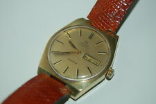 Vintage Omega Geneve Automatic Day Date Dial GP Watch