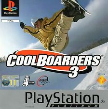 Coolboarders 3 Sony Playstation PS1 Game Excellent Boxed with Manual