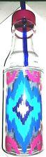 Mainstays 16 oz. Double Wall Bottle w/Easy Open Split Top BPA Free Plastic Ikat