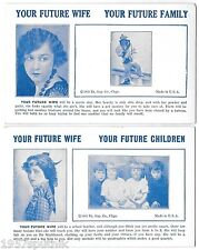 2 Your Future Wife Children 1935 Esco Humor Exhibit Supply Co gag Arcade Cards a