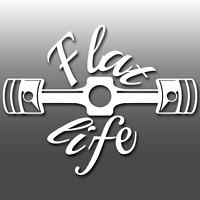 Flat Life Funny Boxer Engine JDM DUB Car Window Bumper Vinyl Decal Sticker