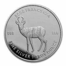 TCHAD 5000 Francs Argent 1 Once Antilope Mandala 2021