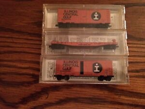 Micro-Trains Line Illinois Central Gulf Freight Car Lot of 3 pcs.