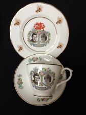BONE CHINA ROYAL COMMEMORATIV PRINCE OF WALES CHARLES LADY DIANNA SPENCER TRIO 2