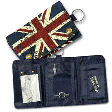Robin ruth Toile Mat Porte-Monnaie Mini Portefeuille Bleu Union Jack OPG100F
