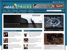 Magic Tricks Tips Resource Affiliate Niche Website For Sale!