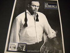 AL DI MEOLA voted best guitar player of last decade 1987 PROMO POSTER AD mint