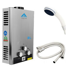 TANKLESS 8L Natural Gas  INSTANT HOT WATER HEATER BOILER STAINLESS + SHOWERS