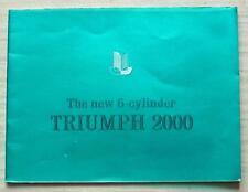 TRIUMPH 2000 Car Sales Brochure 1964 #362/164 UK