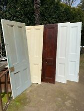 5 x ORIGINAL 1890'S VICTORIAN 4 PANEL TIMBER DOORS old french house recycled DIY